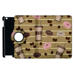 Coffee And Donuts  Apple Ipad 2 Flip 360 Case by Valentinaart