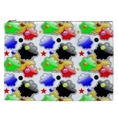 Pattern Background Wallpaper Design Cosmetic Bag (xxl)  by Nexatart