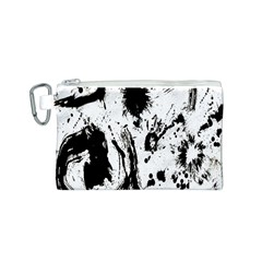 Pattern Color Painting Dab Black Canvas Cosmetic Bag (s) by Nexatart