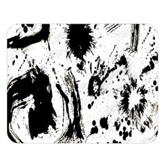 Pattern Color Painting Dab Black Double Sided Flano Blanket (large)  by Nexatart
