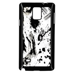 Pattern Color Painting Dab Black Samsung Galaxy Note 4 Case (Black) by Nexatart