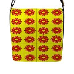 Pattern Design Graphics Colorful Flap Messenger Bag (L)  by Nexatart