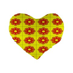 Pattern Design Graphics Colorful Standard 16  Premium Flano Heart Shape Cushions by Nexatart