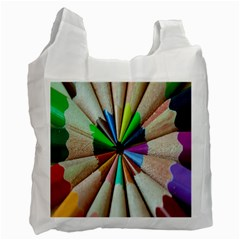 Pen Crayon Color Sharp Red Yellow Recycle Bag (One Side) by Nexatart