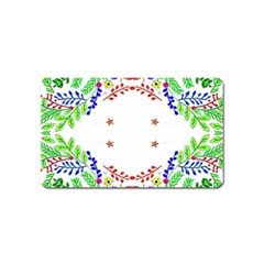 Holiday Festive Background With Space For Writing Magnet (name Card) by Nexatart