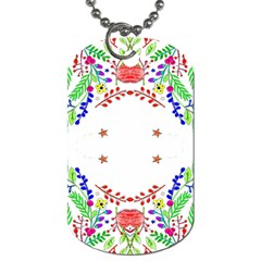 Holiday Festive Background With Space For Writing Dog Tag (two Sides)