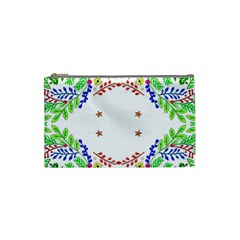 Holiday Festive Background With Space For Writing Cosmetic Bag (small)  by Nexatart