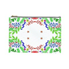 Holiday Festive Background With Space For Writing Cosmetic Bag (large)  by Nexatart