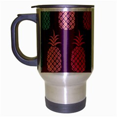 Pineapple Pattern  Travel Mug (silver Gray) by Nexatart