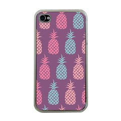 Pineapple Pattern  Apple Iphone 4 Case (clear) by Nexatart