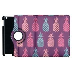 Pineapple Pattern  Apple Ipad 3/4 Flip 360 Case by Nexatart