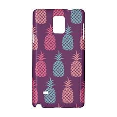 Pineapple Pattern  Samsung Galaxy Note 4 Hardshell Case by Nexatart