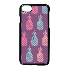 Pineapple Pattern  Apple Iphone 7 Seamless Case (black) by Nexatart
