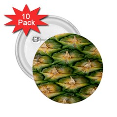 Pineapple Pattern 2 25  Buttons (10 Pack)  by Nexatart