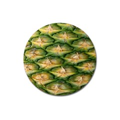 Pineapple Pattern Magnet 3  (round) by Nexatart