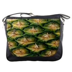 Pineapple Pattern Messenger Bags by Nexatart