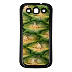 Pineapple Pattern Samsung Galaxy S3 Back Case (black) by Nexatart
