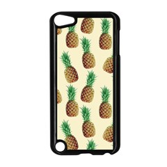 Pineapple Wallpaper Pattern Apple Ipod Touch 5 Case (black) by Nexatart