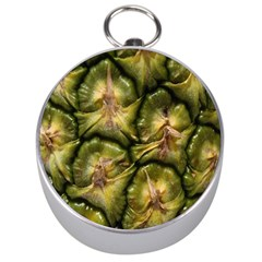 Pineapple Fruit Close Up Macro Silver Compasses by Nexatart