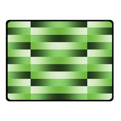 Pinstripes Green Shapes Shades Double Sided Fleece Blanket (small)  by Nexatart