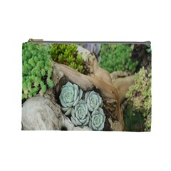 Plant Succulent Plants Flower Wood Cosmetic Bag (large)  by Nexatart