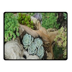 Plant Succulent Plants Flower Wood Double Sided Fleece Blanket (small)  by Nexatart