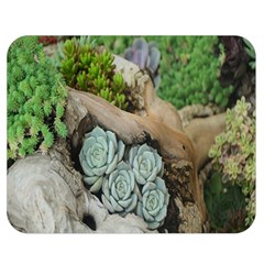 Plant Succulent Plants Flower Wood Double Sided Flano Blanket (medium)  by Nexatart