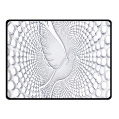 Points Circle Dove Harmony Pattern Double Sided Fleece Blanket (small)  by Nexatart