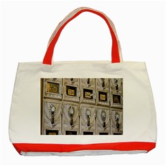 Post Office Old Vintage Building Classic Tote Bag (red) by Nexatart