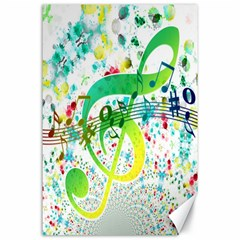 Points Circle Music Pattern Canvas 24  X 36