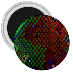 Psychedelic Abstract Swirl 3  Magnets by Nexatart