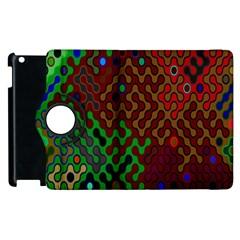 Psychedelic Abstract Swirl Apple Ipad 3/4 Flip 360 Case by Nexatart