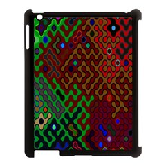 Psychedelic Abstract Swirl Apple iPad 3/4 Case (Black) by Nexatart