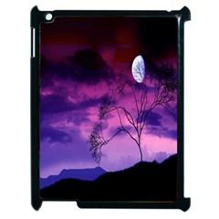Purple Sky Apple Ipad 2 Case (black) by Nexatart