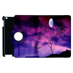Purple Sky Apple Ipad 3/4 Flip 360 Case by Nexatart