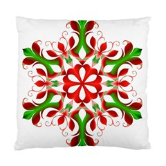 Red And Green Snowflake Standard Cushion Case (one Side) by Nexatart