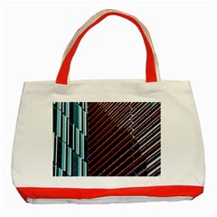 Red And Black High Rise Building Classic Tote Bag (red) by Nexatart