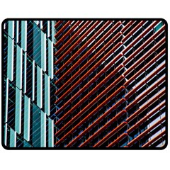 Red And Black High Rise Building Double Sided Fleece Blanket (medium)  by Nexatart