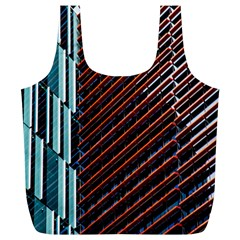 Red And Black High Rise Building Full Print Recycle Bags (l)