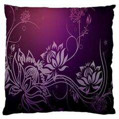 Purple Lotus Standard Flano Cushion Case (one Side) by Nexatart