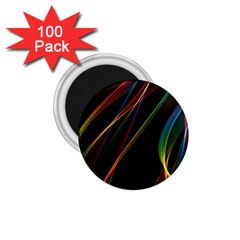 Rainbow Ribbons 1 75  Magnets (100 Pack)  by Nexatart