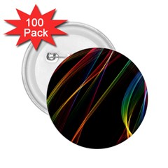 Rainbow Ribbons 2 25  Buttons (100 Pack)  by Nexatart