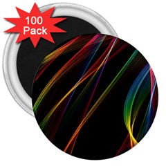 Rainbow Ribbons 3  Magnets (100 Pack) by Nexatart
