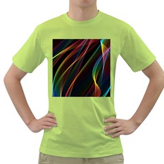 Rainbow Ribbons Green T Shirt by Nexatart