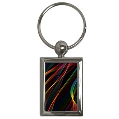 Rainbow Ribbons Key Chains (rectangle)  by Nexatart
