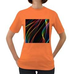 Rainbow Ribbons Women s Dark T Shirt by Nexatart