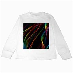 Rainbow Ribbons Kids Long Sleeve T Shirts by Nexatart