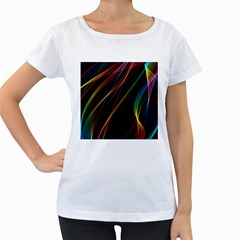 Rainbow Ribbons Women s Loose Fit T Shirt (white) by Nexatart