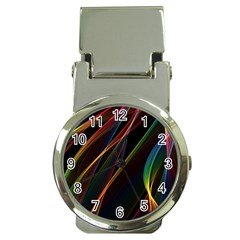 Rainbow Ribbons Money Clip Watches by Nexatart