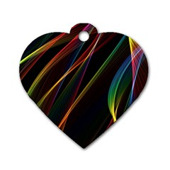Rainbow Ribbons Dog Tag Heart (one Side) by Nexatart